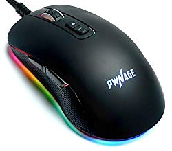 Pwnage Altier Pro Gaming Mouse – 3360 Optical – Wired RGB 16.8 Million Spectrum Lighting – 7 Programmable Buttons – 12,000 DPI Optical Sensor – PixArt PMW3360