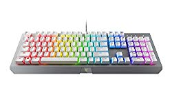 Razer BlackWidow X Chroma Mechanical Gaming Keyboard: Green Key Switches – Tactile & Clicky – Chroma RGB Lighting – Military-Grade Metal Construction – Mercury White