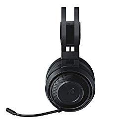 Razer Nari Essential Wireless 7.1 Surround Sound Gaming Headset: THX Spatial Audio – Auto-Adjust Headband & Swivel Cups – Auto-Adjust – Flip Mic – for PC & PS4 Only