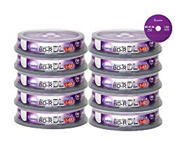 Smart Buy 100 Pack Bd-r Dl 50gb 6X Blu-ray Double Layer Recordable Disc Blank Logo Data Video Media 100-discs Spindle