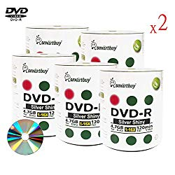 Smart Buy 1000 Pack DVD-r 4.7gb 16x Shiny Silver Blank Data Video Movie Recordable Media Disc, 1000 Disc 1000pk