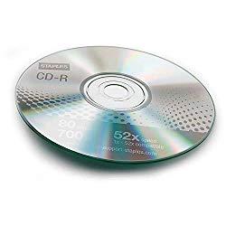 STAPLES 483050 700MB 80MIN 52X CD-R Slim Jewel Case 10/Pack (32370)