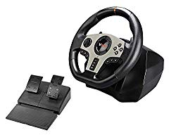 Subsonic – V900 Steering Wheel with Pedals and Gearshift Paddles For Playstation 4 – PS4 Slim/ Pro – Xbox One S – Nintendo Switch – PC – PS3 (Compatible with all Racing Games) (PS4//xbox_one//)
