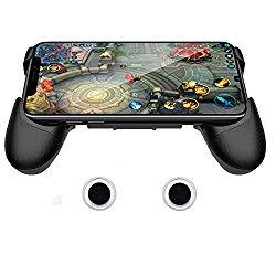 SUNCHI Universal Mobile Game Joystick Spiral Mini Joystick Game Handle Grip Controller Rocker Joypad Foldable Stand Holder for Cellphones (Handle Holder with Joystick)