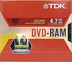 TDK Electronics – DVD-RAM47SY2 – TDK 4.7GB DVD-RAM Media