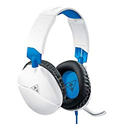 Turtle Beach Recon 70 White Gaming Headset for PlayStation 4 Pro, PlayStation 4, Xbox One, Nintendo Switch, PC, and Mobile – PlayStation 4