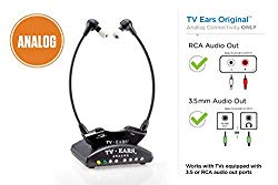 TV Ears Original Wireless Headsets System, TV Hearing Aid Devices works best with Analog TV's, Hearing Assistance, TV Listening Headphones for Seniors and Hard of Hearing. Voice Clarifying, Doctor Recommended – 11641