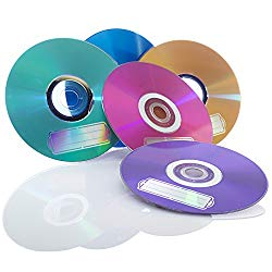 Verbatim CD-R 700MB 52X with Color  Branded Surface – 10pk Bulk Box, Assorted