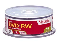 Verbatim DVD-RW 4.7GB 15pk Spindle