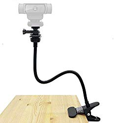 Webcam Clamp Mount, Flexible Holder Stand for Logitech Webcam Brio 4K, C925e,C922x,C922,C930e,C930,C920,C615 – Acetaken