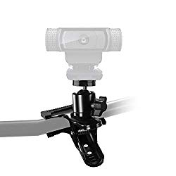 Webcam Clamp, Webcam Monitor Clamp,Desk Pipe Handlebar Clamp Mount Stand for Logitech Webcam C922x C922 C930e C930 C920 C615,Brio 4K – Acetaken