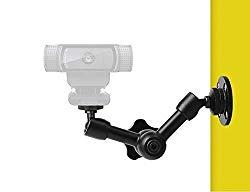 """Webcam Wall Mount – 7"""" Articulating Magic Arm Stand for Logitec C925e,C922x,C922,C930e,C930,C920,C615,Brio 4K"""