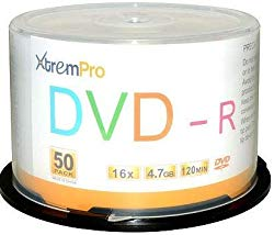 XtremPro DVD-R 16X 4.7GB 120Min DVD 50 Pack Blank Discs in Spindle – 11032