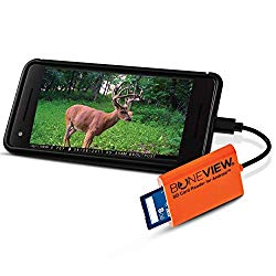 BoneView SD Card Reader for Android – Type C USB Trail Camera Viewer Play Deer Hunting Photo & Video from All Game Cam Memory on Any Smart Phone, Samsung, Moto, LG + Free MicroUSB OTG Adapter
