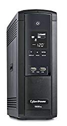 CyberPower BRG1500AVRLCDTAA UPS System, 1500VA/900W, 12 Outlets, AVR, Mini-Tower, TAA Certified