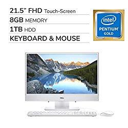 Dell Inspiron 3277 22 21.5″ FHD All-in-One Touch-Screen 2019 Premium Desktop Computer, 2-Core Intel Pentium 4415U 2.30 GHz, 8GB RAM, 1TB HDD, No DVD, WiFi, Bluetooth, USB-C, HDMI, VGA, RJ-45, Win 10