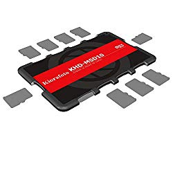Kiorafoto KHD-MSD10 Slim Credit Card Size Durable Lightweight Portable Micro SD Memory Card Case Storage Holder Protector for 10 MSD Micro SD Cards