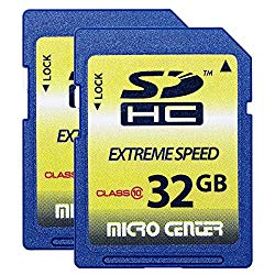 Micro Center 32GB Class 10 SDHC Flash Memory Card SD Card (2 Pack)