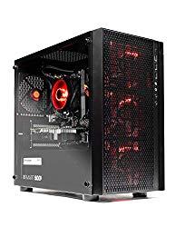 SkyTech Blaze – Gaming Computer PC Desktop – Ryzen 5 1600 6-Core 3.2 GHz, NVIDIA GeForce GTX 1050 Ti 4GB, 1TB HDD, 16GB DDR4, AC WiFi, Windows 10 Home 64-bit (16GB Version)