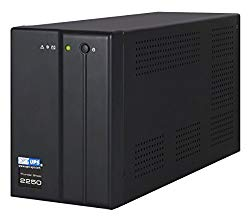 TS2250B-2X (220 / 230 / 240 Volt) IEC Outlets, (2000VA / 1200W) Line Interactive UPS Battery Backup with AVR Surge Protection – 5 Outlets (Black) – Uninterruptible Power Supply – CE
