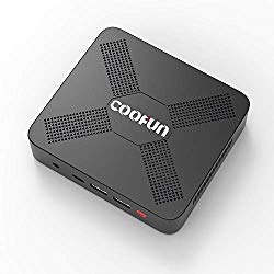 COOFUN C-J34 Pro Desktop Mini PC 8G DDR4/SSD 128GB Intel Apollo Lake Celeron J3455 (up to 2.3GHz), Windows 10 Pro with USB-C/HDMI 2.0/Mini DP Port 4K@60Hz,5xUSB Ports 2.4G+5G Dual WiFi BT 4.2